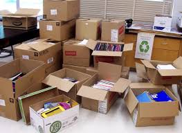 boxes and clutter